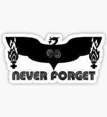 LFC 96 Never Forget - Black Sticker