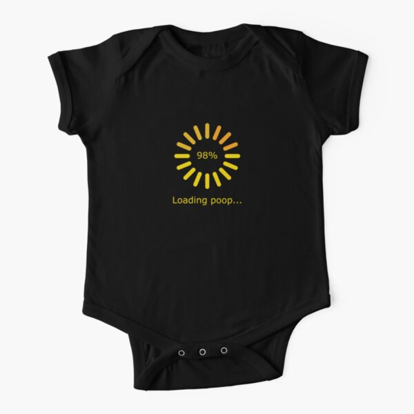 Loading Poop (Yellow) Short Sleeve Baby One-Piece