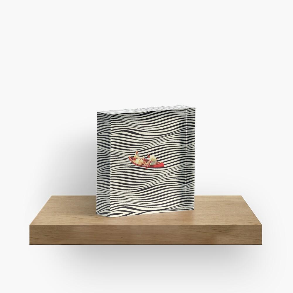 Illusionary Boat Ride 2 Acrylic Block