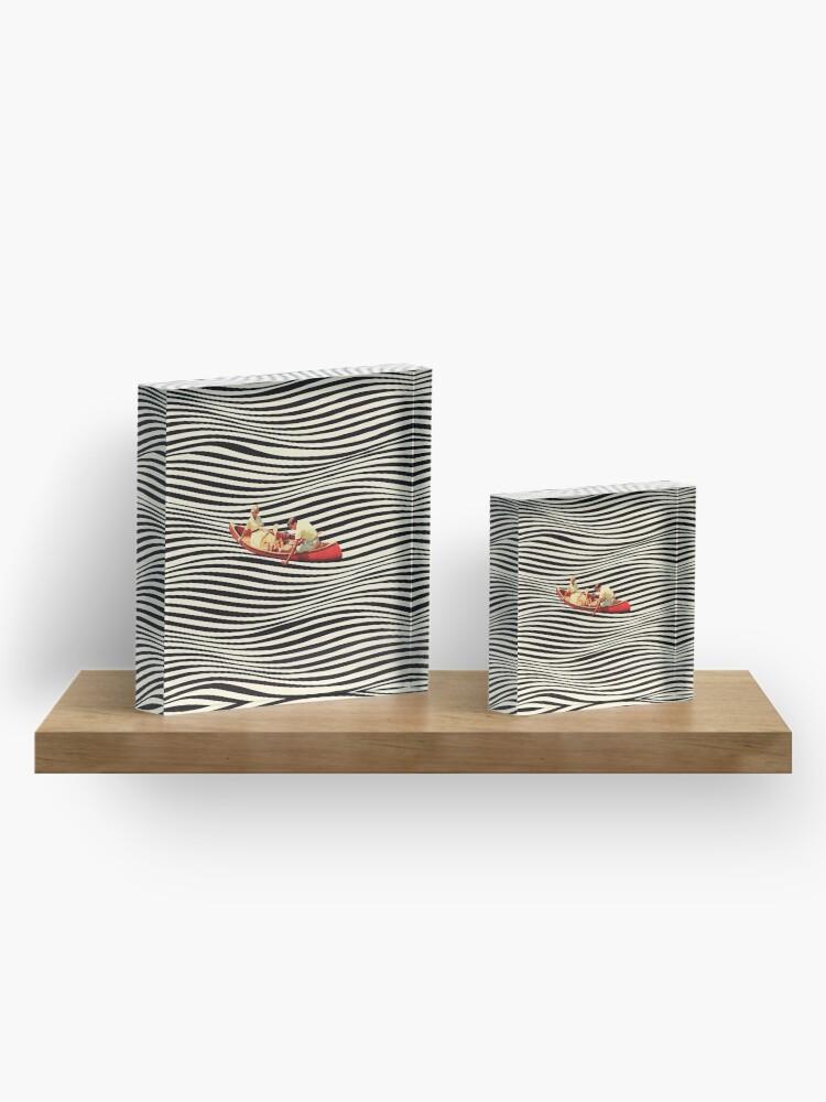 Alternate view of Illusionary Boat Ride 2 Acrylic Block