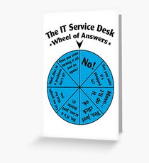 The IT Service Desk Wheel of Answers. Greeting Card