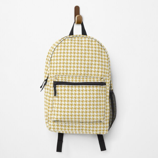 Classic Houndstooth in Spicy Mustard Yellow and White Backpack