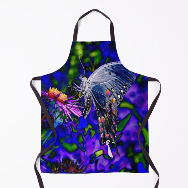 Butterfly Blues Apron