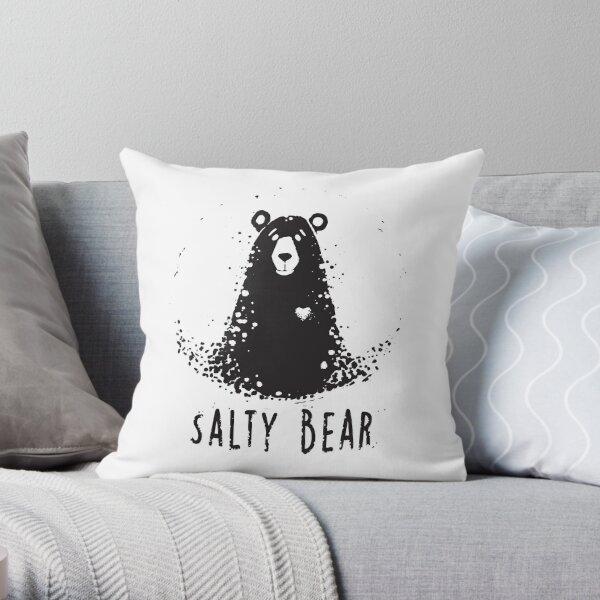 Salty Bear Throw Pillow