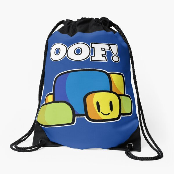 Roblox Oof! Hand Drawn Gaming Noob Gift For Gamers Drawstring Bag