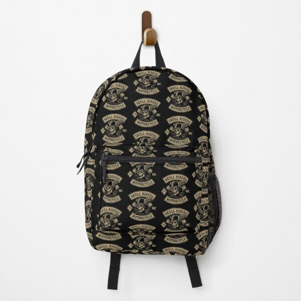 Flying Skull With Wrench Suitable Motorcycle Backpack