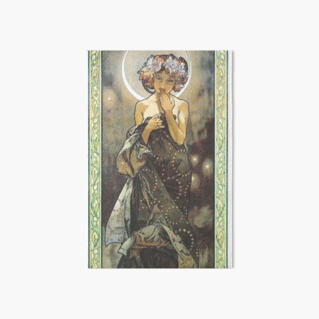 HD. The Moon and the Stars, (number 1 from serie of 4) by Alphonse Mucha (1902) HIGH DEFINITION Art Board Print