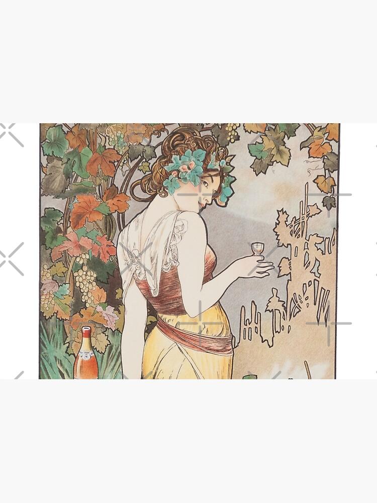 HD. Cognac Bisquit - Paris, by Alphonse Mucha (1899) HIGH DEFINITION (original colors) by mindthecherry