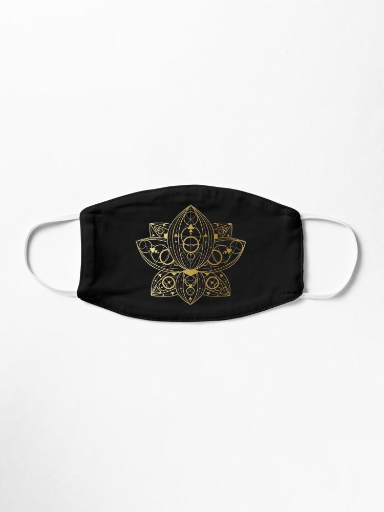 Alternate view of Gold Gradient Geometric Lotus Pattern Mask