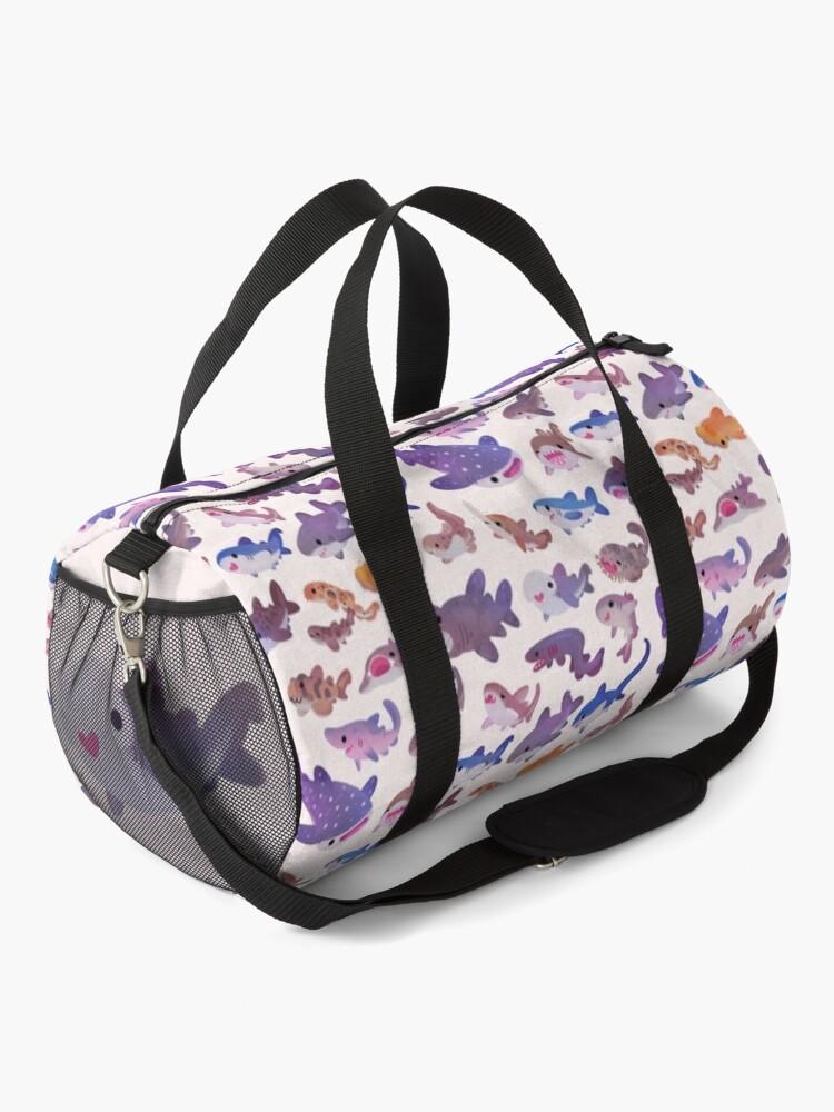 Alternate view of Shark day - pastel Duffle Bag