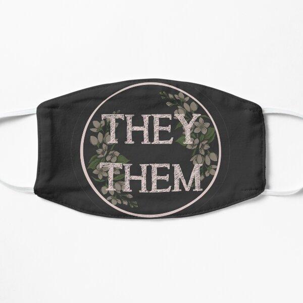 They/Them Pronouns Flat Mask