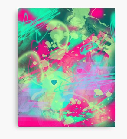 Dispersed love Canvas Print