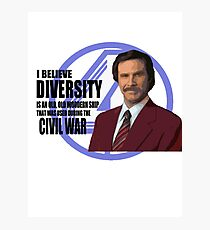 Anchorman - Ron Photographic Print