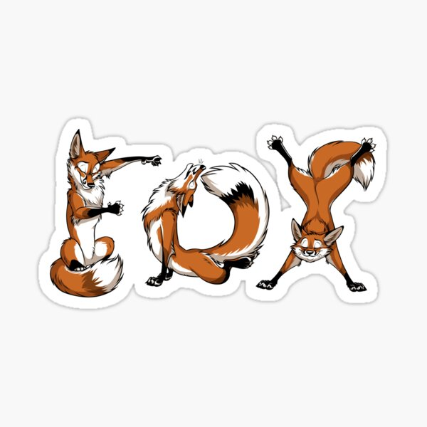 YOGA Foxes Sticker