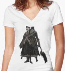 Bloodborne - Doll and Hunter Women's Fitted V-Neck T-Shirt