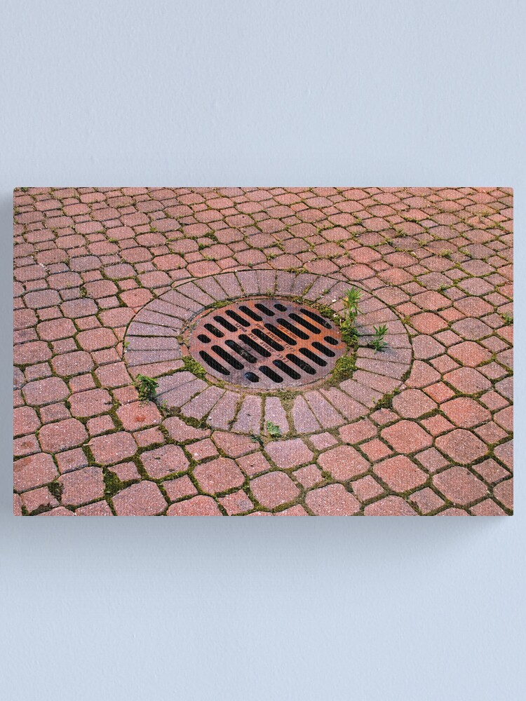 Alternate view of Grate and Pavers Canvas Print