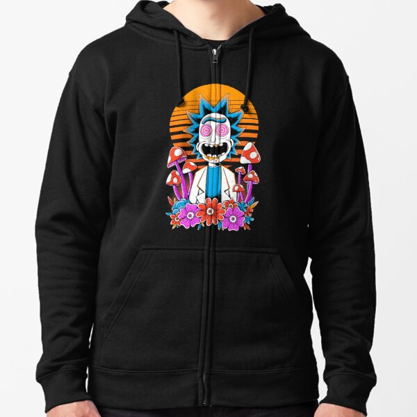 Rick Sanchez Trippy Scientist Zipped Hoodie