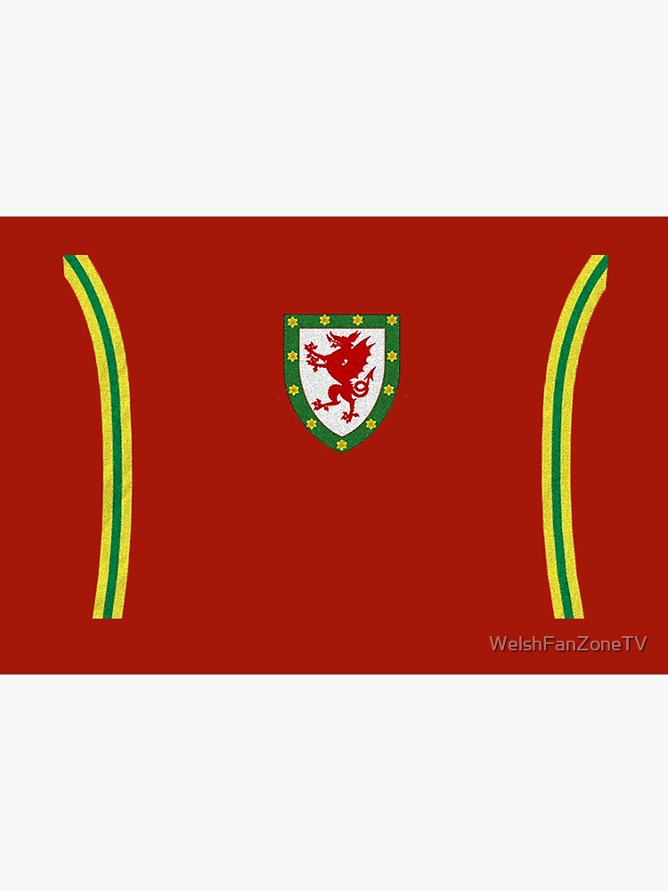 Mask in the style of the famous Welsh kit by WelshFanZoneTV