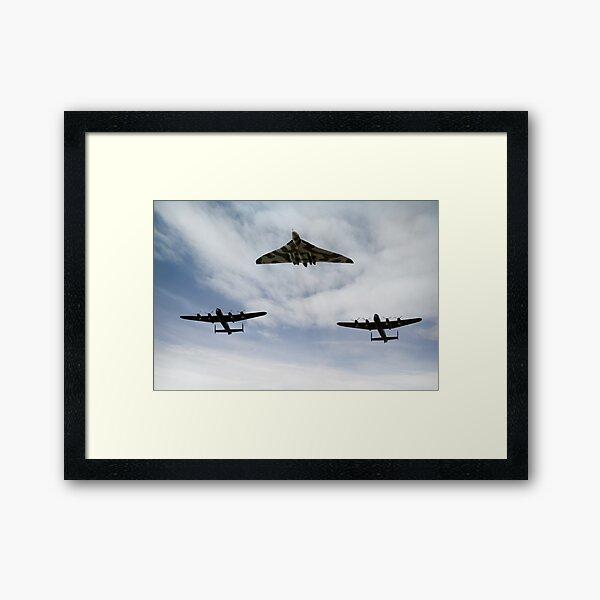 Three Avro bombers Framed Art Print