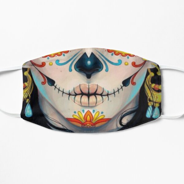 Day of The Dead Face Mask - Dia De Los Muertos for Women Men Adults, Mexican Tradition, Sugar Skull Face Mask Mask