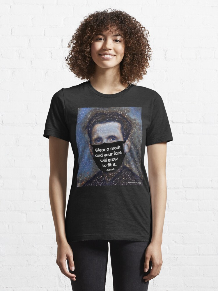 Alternate view of Orwell Mask Quote Essential T-Shirt