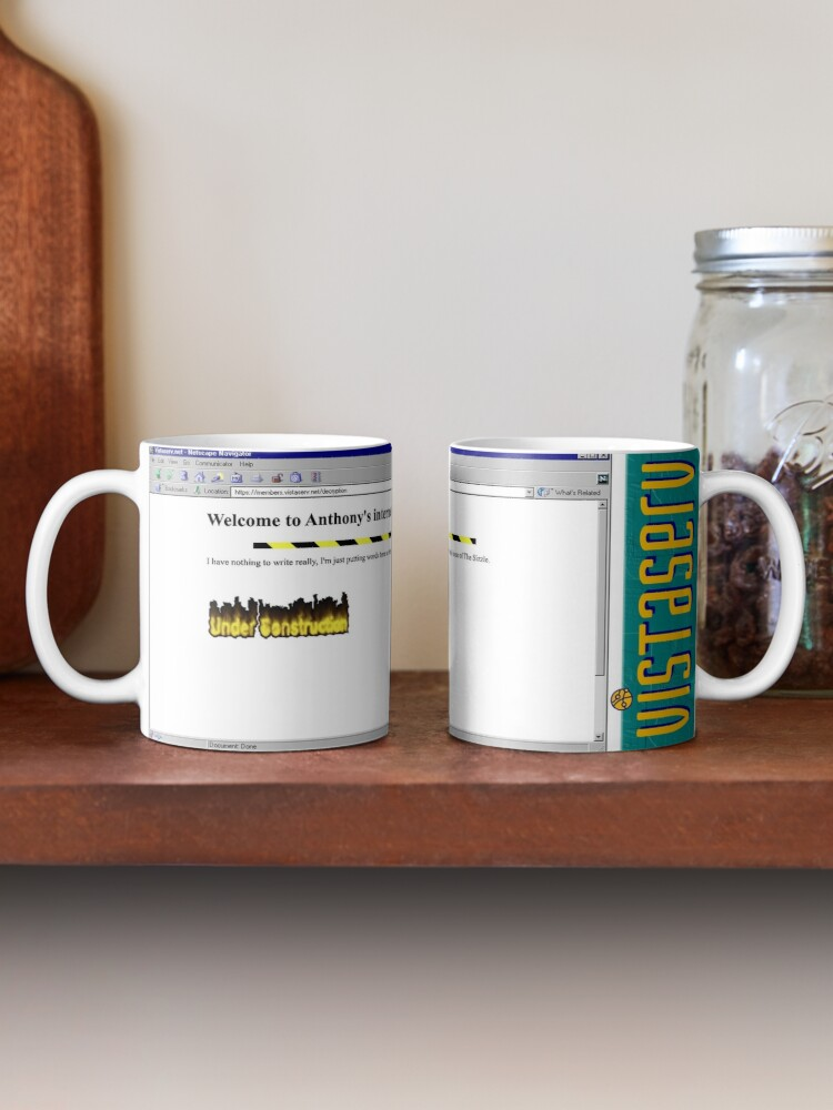 A mug with a screenshot of decryption's home page on it