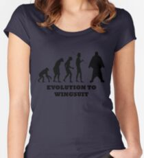 Evolution to Wingsuit Women's Fitted Scoop T-Shirt