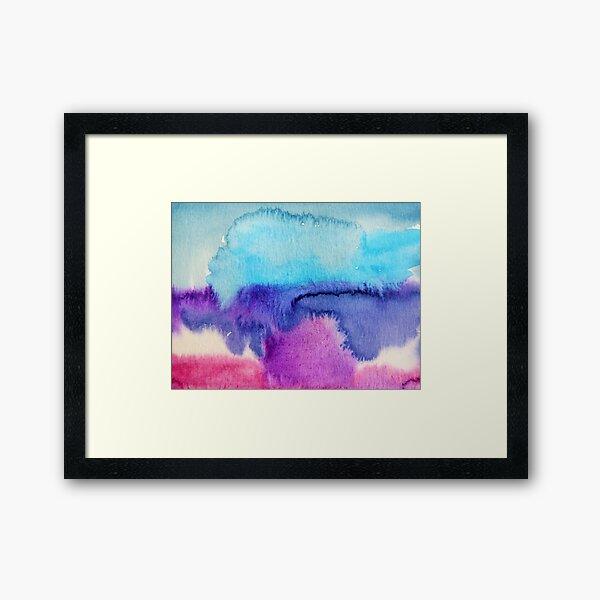 Watercolour abstract 2 Framed Art Print