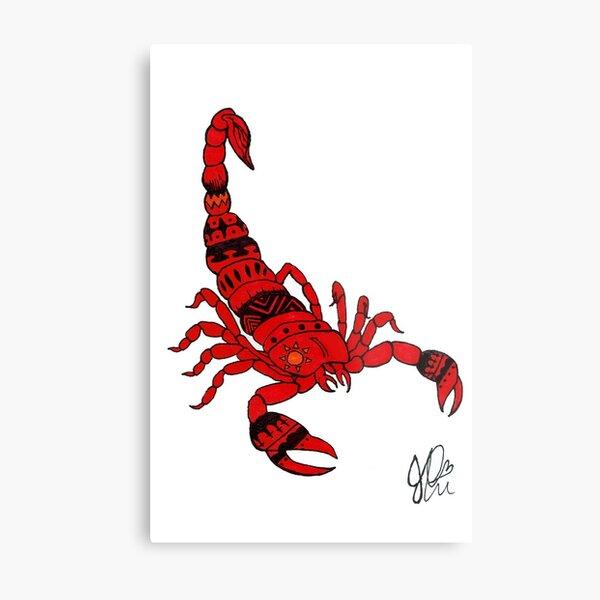Scorpion in Sharpie Metal Print