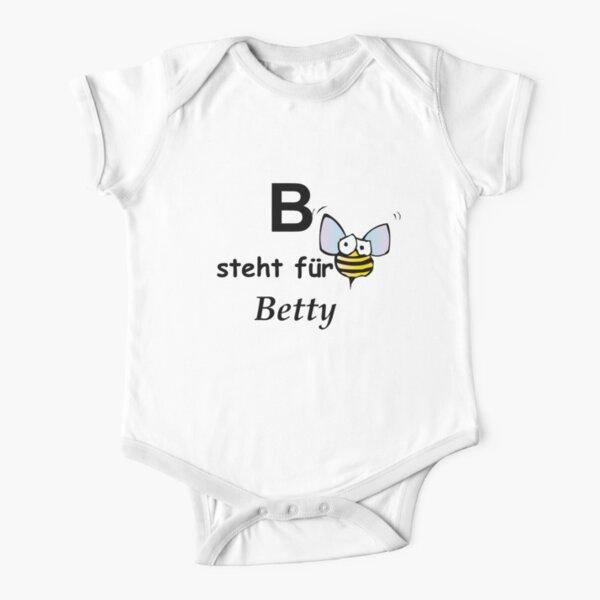 B steht für ...Betty Short Sleeve Baby One-Piece