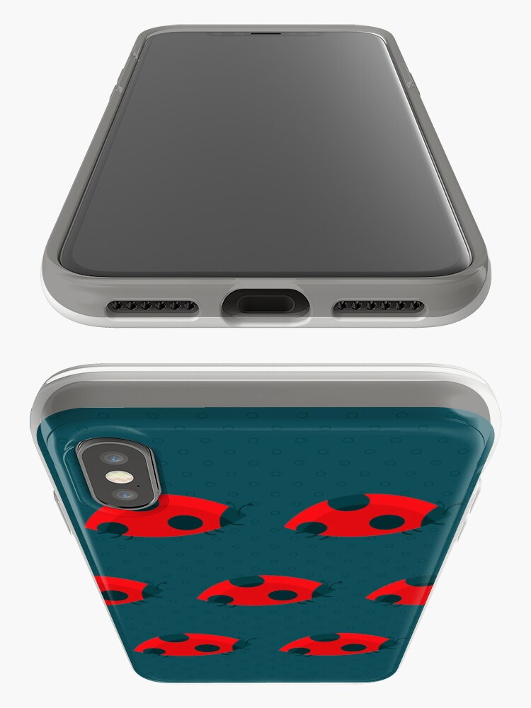 Alternate view of Lady Bug Pattern iPhone Case & Cover