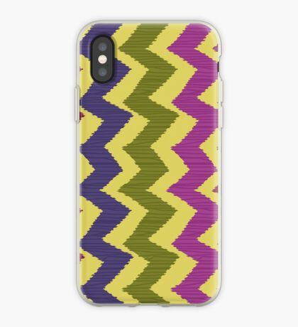 Zigzag Ikat Pattern iPhone Case