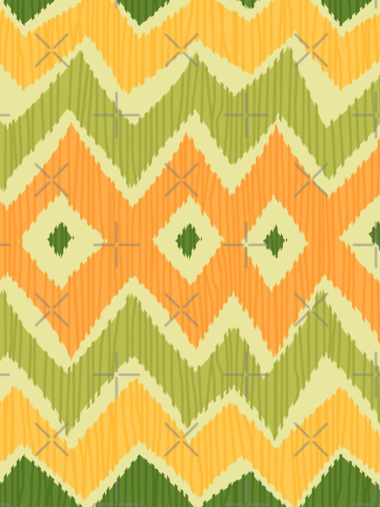 Diamond & Zigzag Ikat Pattern by rusanovska