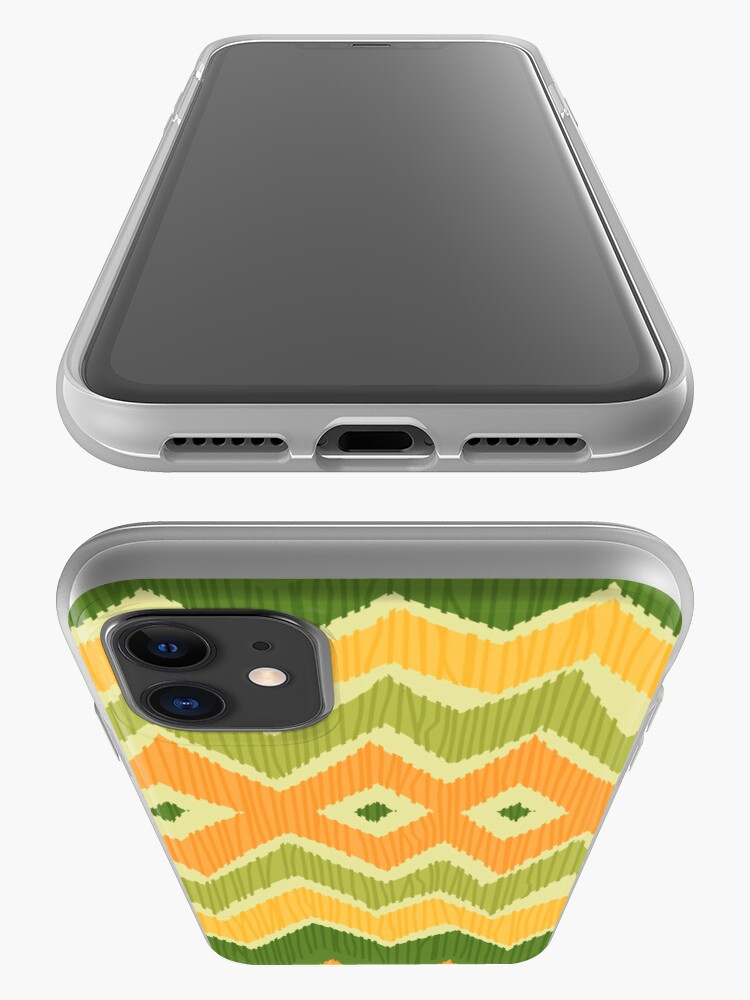 Alternate view of Diamond & Zigzag Ikat Pattern iPhone Case & Cover