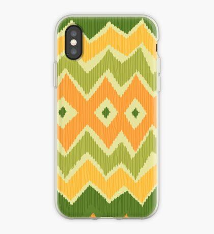 Diamond & Zigzag Ikat Pattern iPhone Case