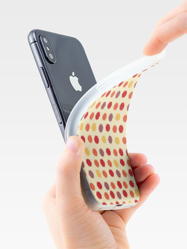 Alternate view of Polka Dot Ikat Pattern iPhone Case & Cover