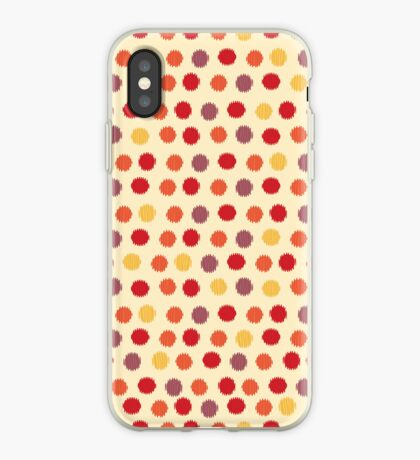 Polka Dot Ikat Pattern iPhone Case