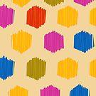 Honeycomb Ikat Pattern by rusanovska