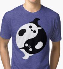 Yin Yang Narwhals Tri-blend T-Shirt