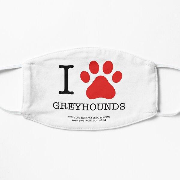 I PAW GREYHOUNDS Flat Mask