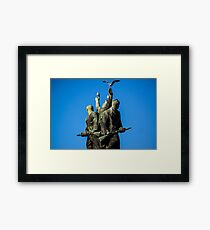 Winners at the top Framed Print