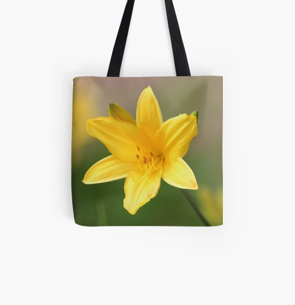 Yellow Day Lilly All Over Print Tote Bag