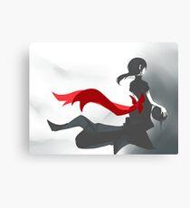 Red Ribbon Girl Canvas Print