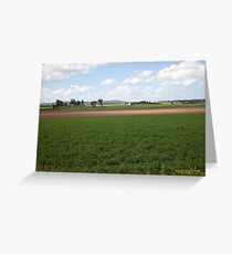 Rural Farmlands at Woodville, NSW Australia Greeting Card