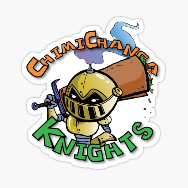 The Knight from Chimichanga Knights Sticker