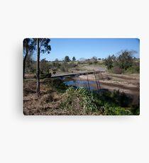 Melville Ford Bridge, Maitland NSW Australia (Dry Brushed) Canvas Print
