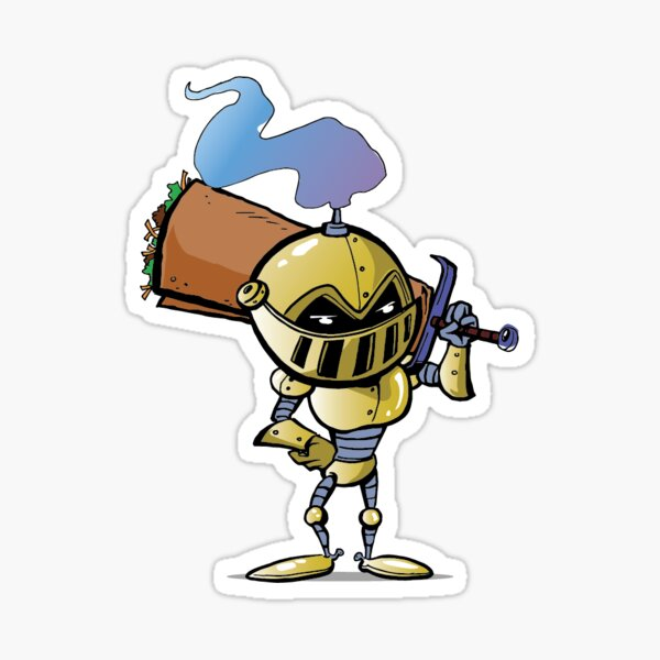 The Knight from Chimichanga Knights Full Body Sticker