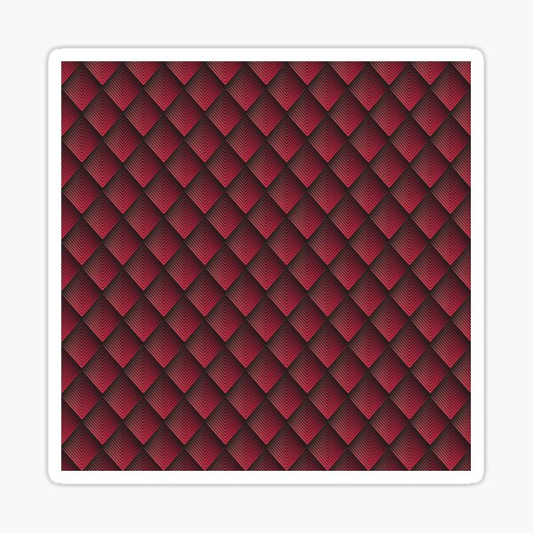 red and white on black background Sticker