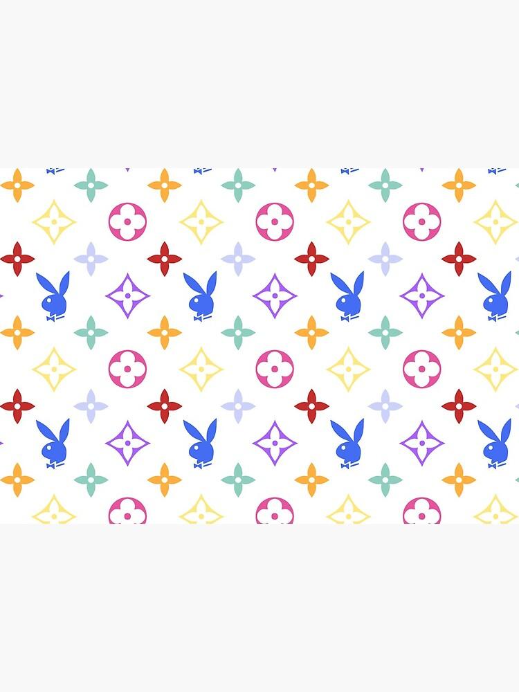 RAINBOW Y2K PLAY BOY BUNNY designer print by lunar0000