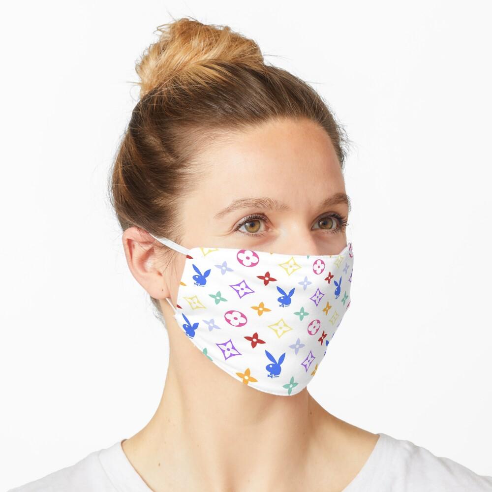 RAINBOW Y2K PLAY BOY BUNNY designer print Mask